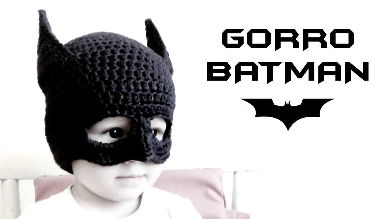 Gorro de BATMAN a Crochet - Patrones gratis