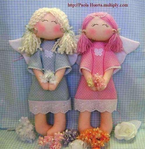 Muñeca ángel sencilla