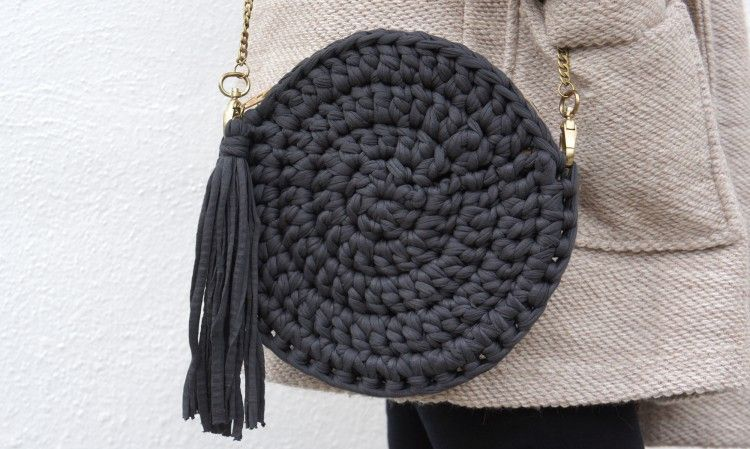 Bolso de trapillo redondo patrones gratis - Como hacer un bolso de trapillo ...