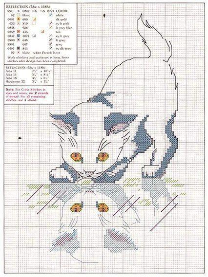 Gatos en punto de cruz (7)