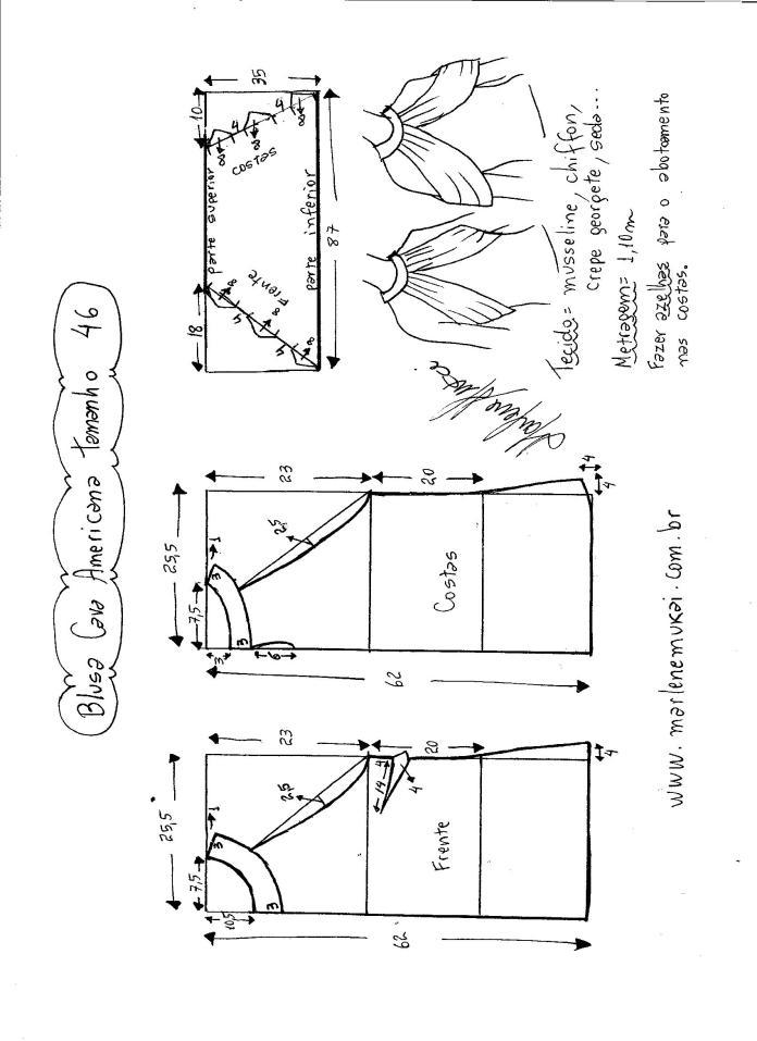 blusa de sisa americana con drapeado -46