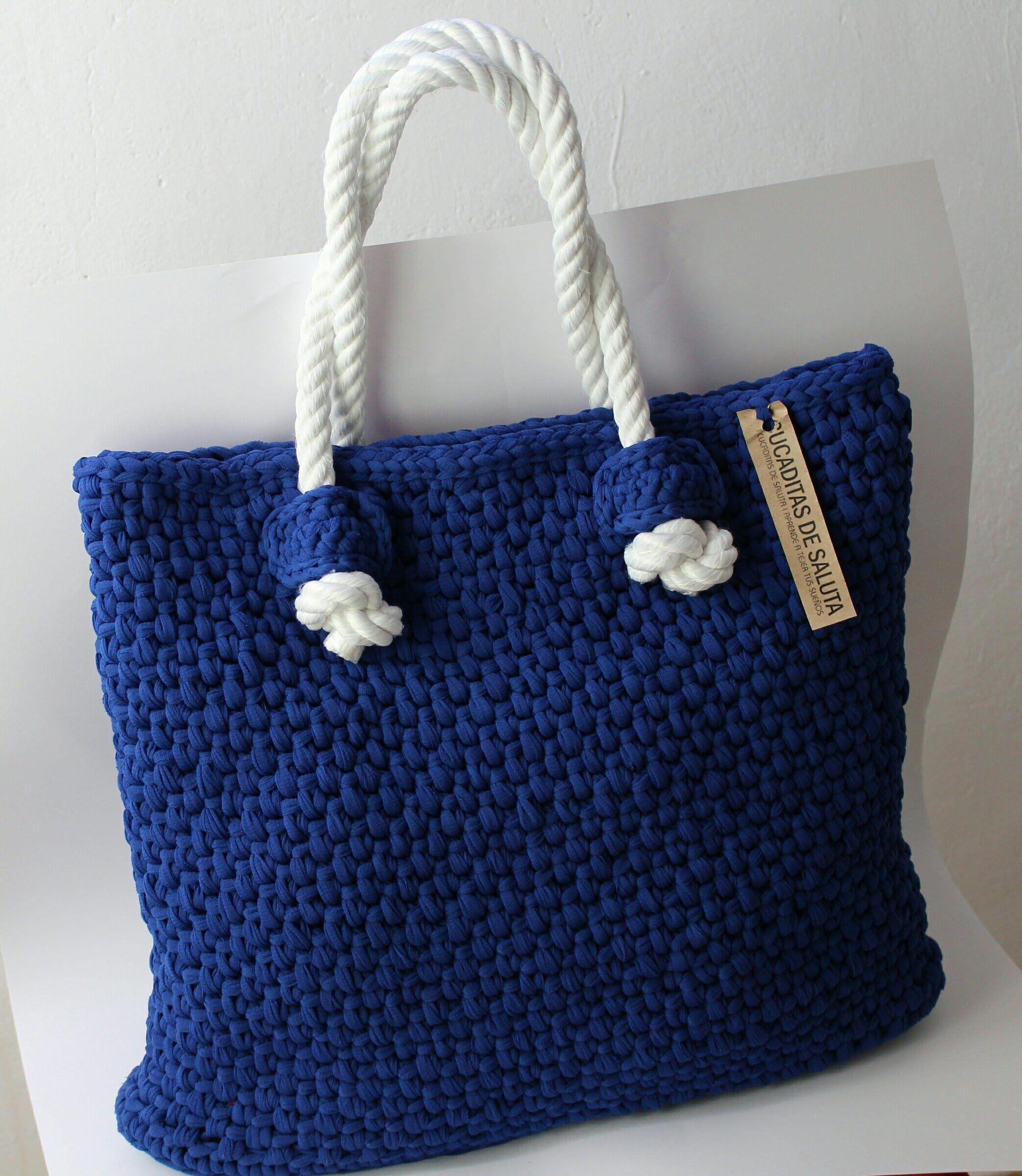 Bolso grande fettuccia a crochet paso a paso patrones gratis - Como hacer bolsos tejidos ...