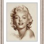 Patrón Marilyn Monroe a punto de cruz