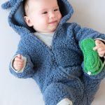 Patrón de enterizo de oso para bebés