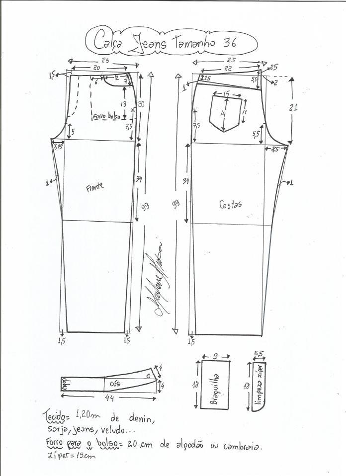 jeans - cintura media-36