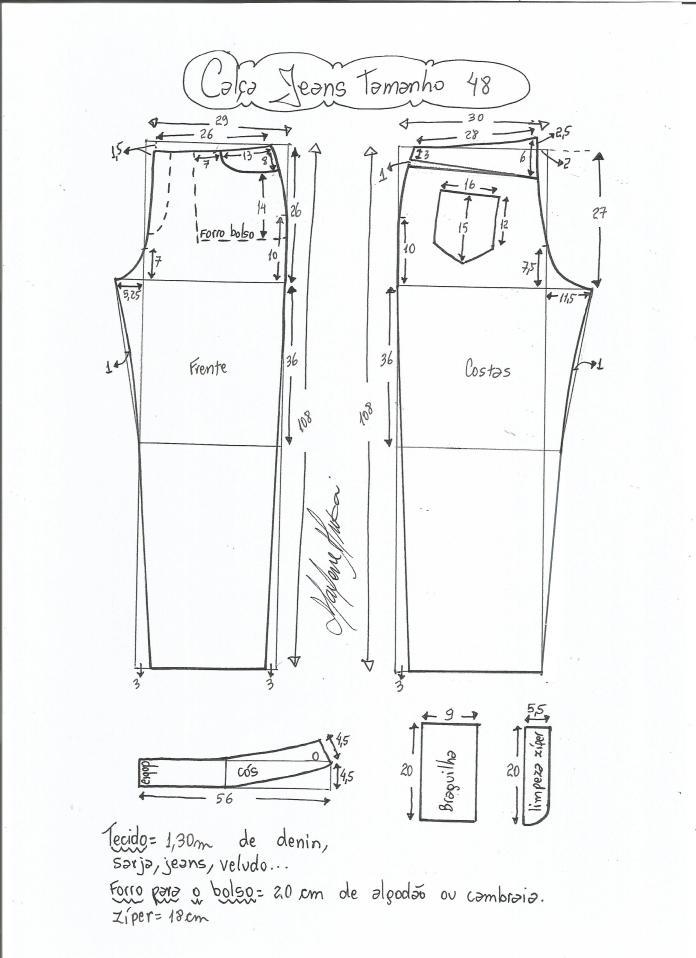 jeans - cintura media-48