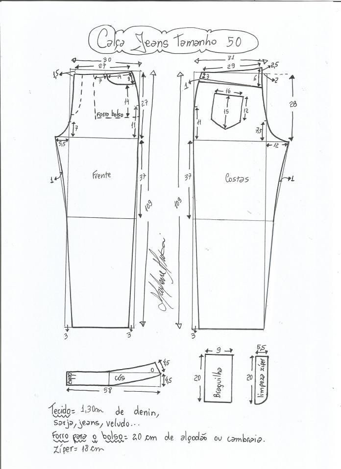 jeans - cintura media-50