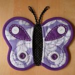 Patrón de manopla mariposa para horno