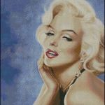 Patrón en punto de cruz de Marilyn Monroe