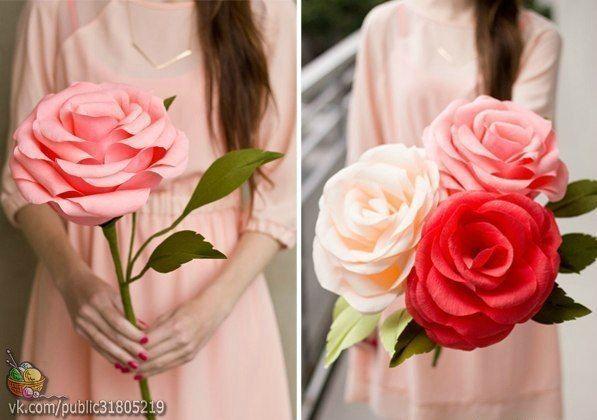 rosas gigantes crepe 2