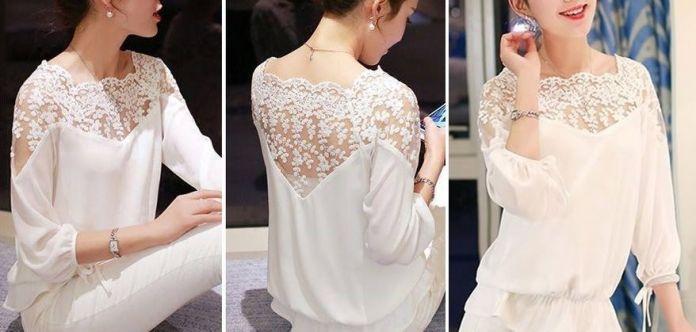 Patrón de blusa con manga ranglán - Patrones gratis