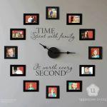 DIY reloj de fotos en la pared