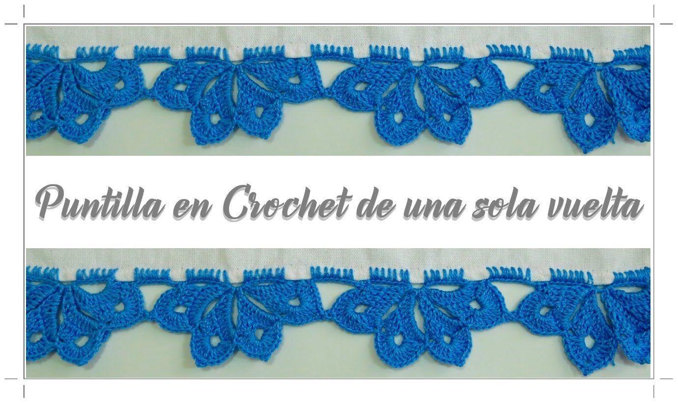 puntilla-crochet-una-sola-vuelta - Patrones gratis