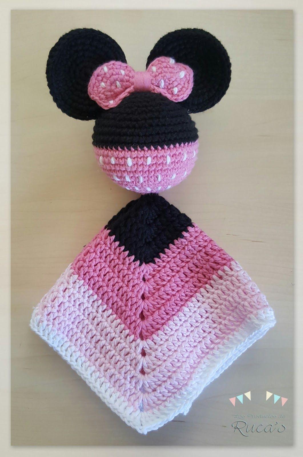Patrón Mantita de Apego Mickey - Minnie Mouse - Patrones gratis