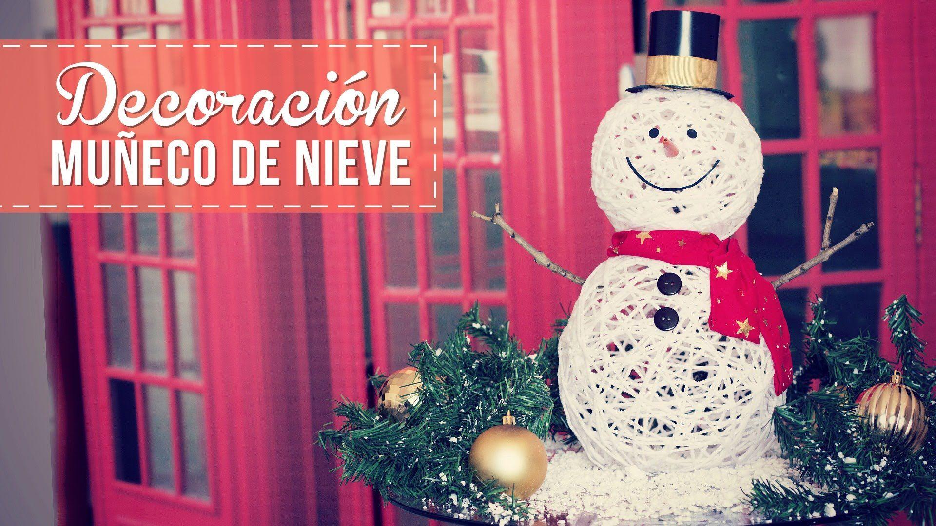 DIY como hacer Muñecos de Nieve para decorar - Patrones gratis