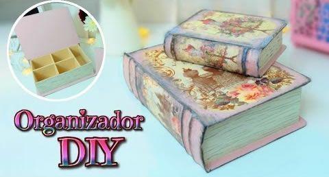 organizador-de-carton-en-forma-de-libro-vintage