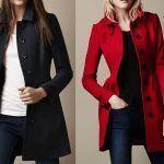 Patrón de abrigo largo entallado