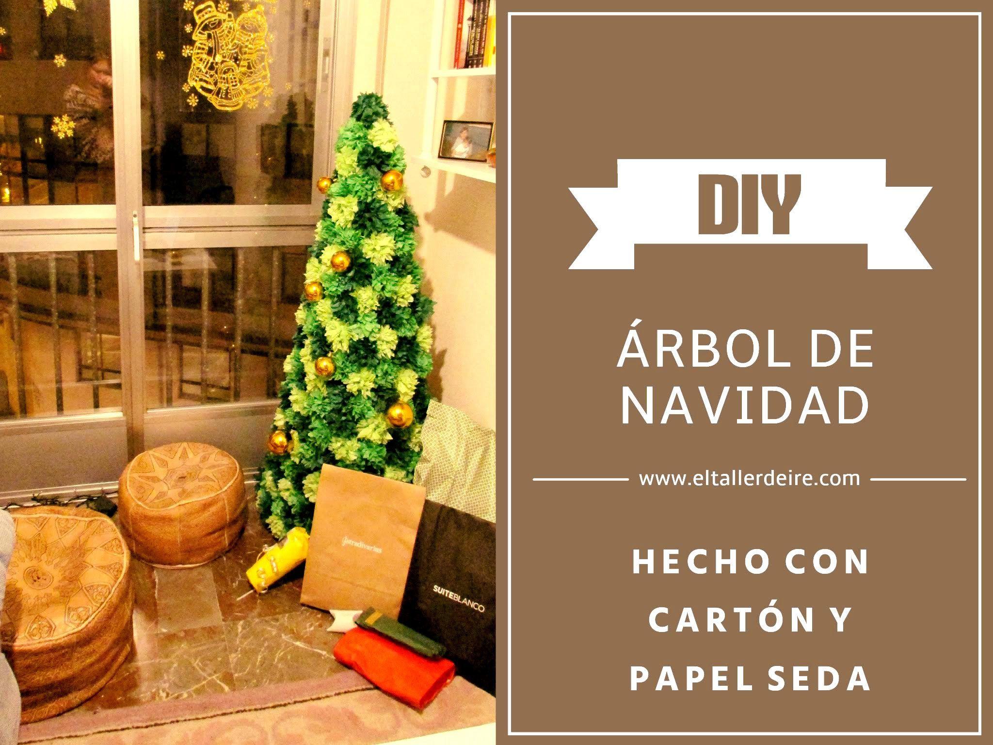 Cómo hacer un árbol de Navidad de cartón y papel seda - Patrones gratis