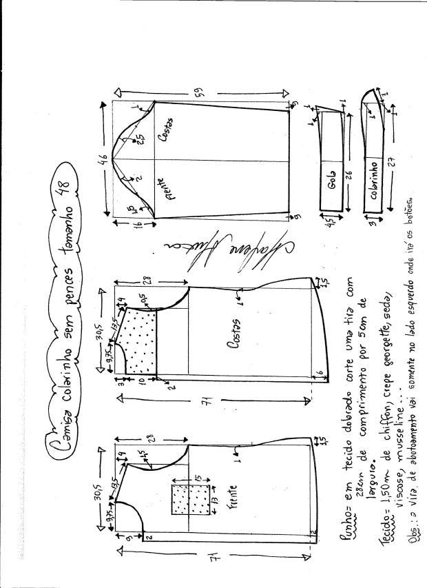 Patrón de camisa para mujer - Patrones gratis