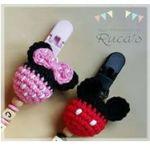 Patrón Chupeteros de Minnie y Mickey mouse