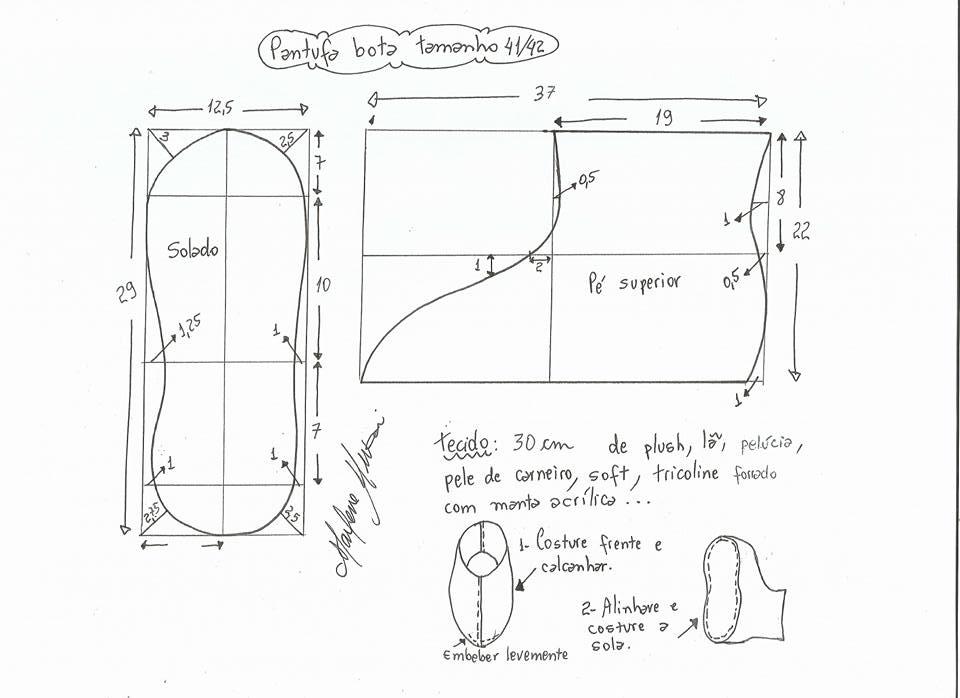 Resultado de imagen para pantuflas patrones