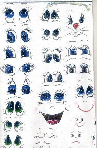 caras-y-ojos-para-pintar-en-goma-eva-o-tela