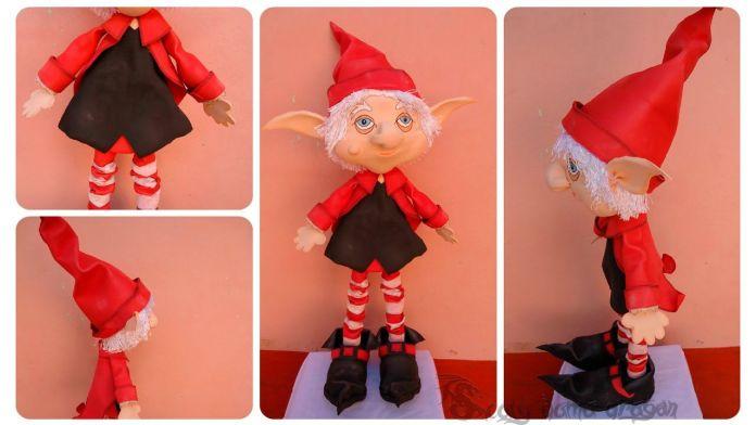 Fofucho navideño Duende mágico con moldes