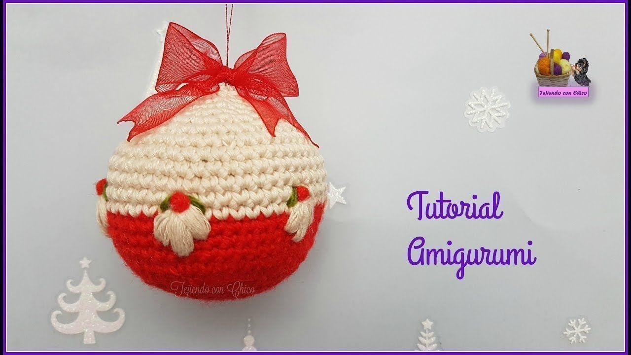 Como hacer bolas de navidad en amigurumi patrones gratis - Como decorar una bola de navidad ...