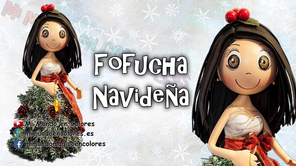 Tutorial y moldes de Fofucha Navideña - Patrones gratis