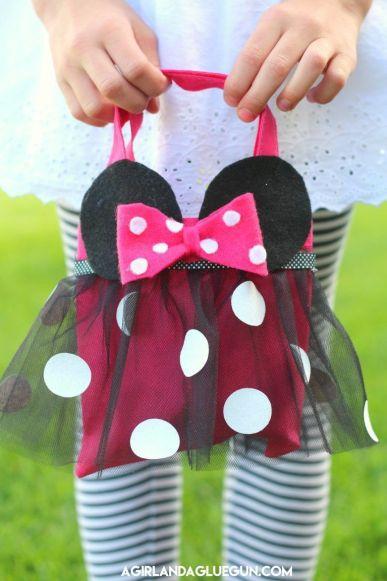 Cómo hacer un bolso de Minnie Mouse - Patrones gratis