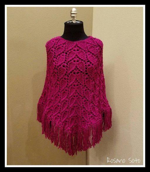 poncho-a-crochet