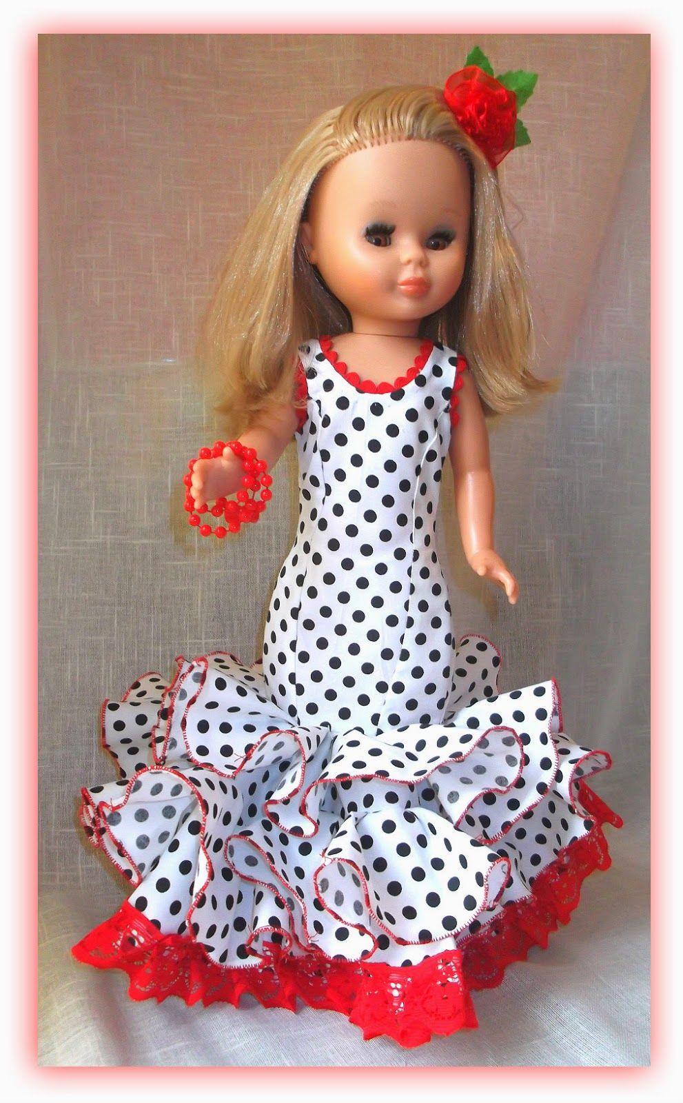 Patrón y DIY para hacer un traje de flamenca para la muñeca Nancy ...