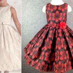 Patrón vestido de fiesta para niña con la falda plisada