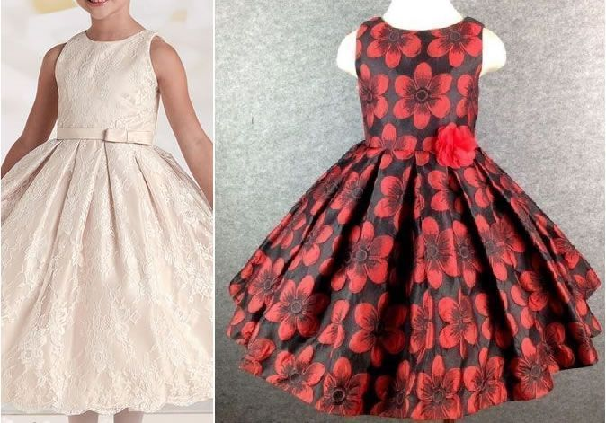 f1547876b68b3 Patrón vestido de fiesta para niña con la falda plisada - Patrones ...