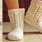 DIY Botas pantuflas crochet