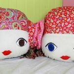DIY cojines con cara de muñecas