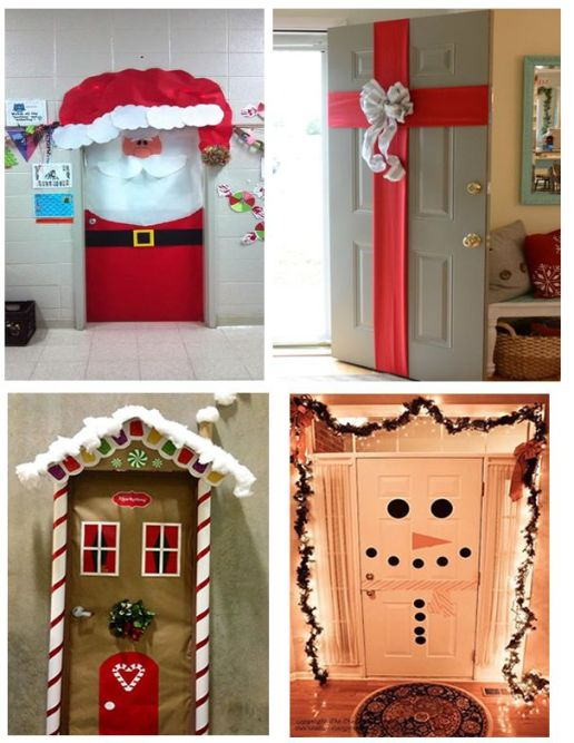 Manualidades Para Decorar Puertas En Navidad.Ideas Para Decorar Puertas En Navidad Patrones Gratis