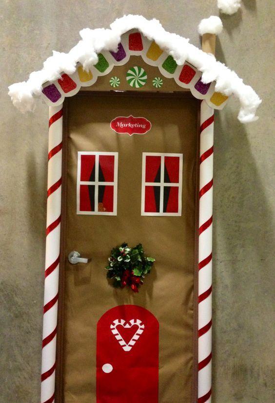 Ideas para decorar puertas en navidad patrones gratis for Puertas decoradas navidad material reciclable
