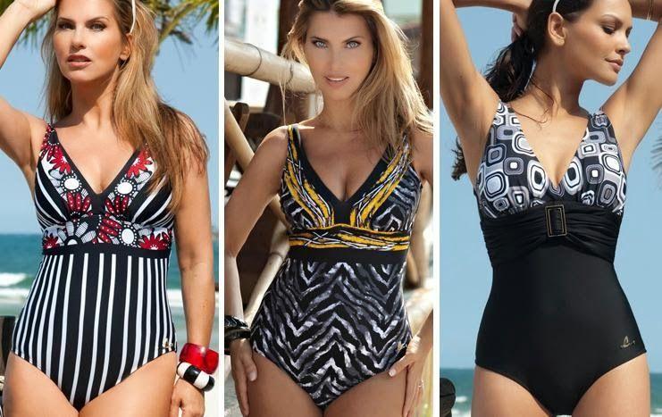 99ec96f53 Patrón para hacer un bonito traje de baño o bañador de mujer. Tallas desde  la XS hasta la XXL