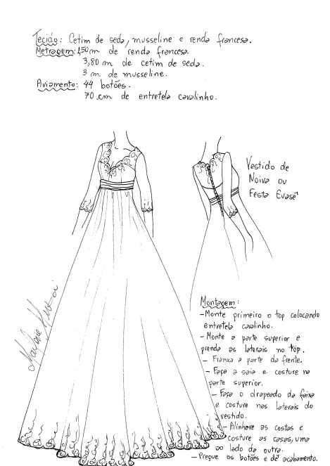Patrón para hacer un vestido de fiesta en tul - Patrones gratis