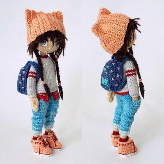 Muñeca Amigurumi Articulada - Patrones gratis