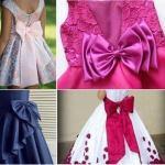 Patrón de lazo para vestidos de niña