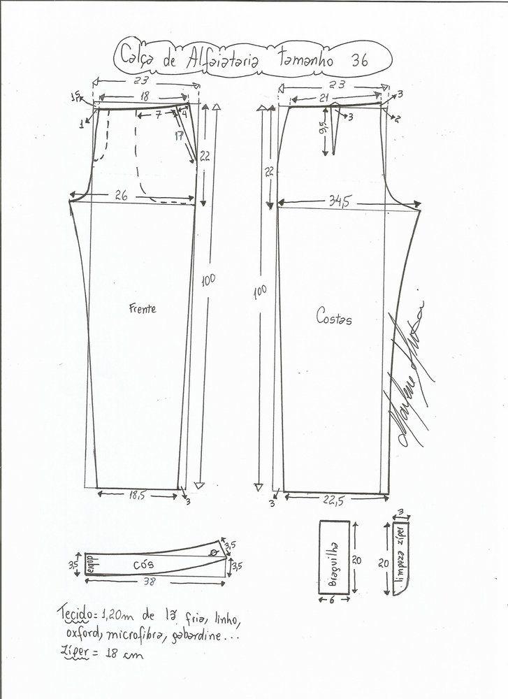 Resultado de imagen para Como Hacer un Pantalon patrones