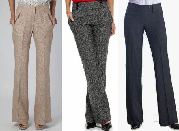 Patrón de pantalón de sastre de mujer