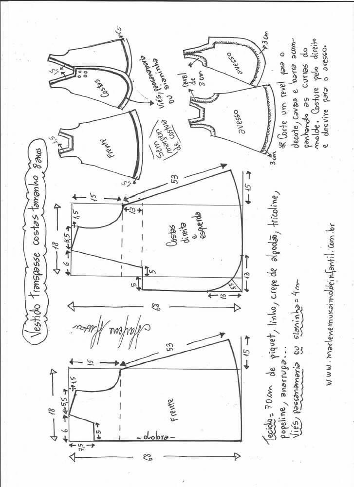 d3396121057059 Patrón de vestido de niña cruzado y botones en la espalda - Patrones ...