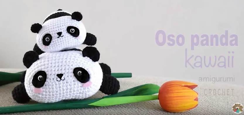 DIY Oso panda kawaii amigurumi - Patrones gratis