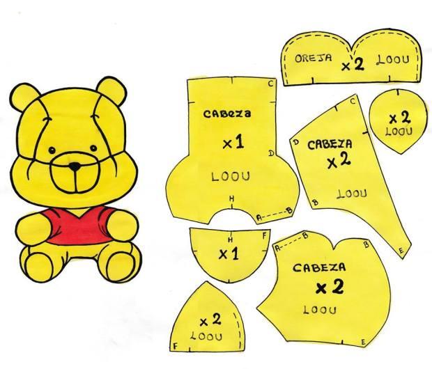 Patrón de Winnie Pooh Baby