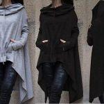 Patrón de sudadera con capucha para mujer