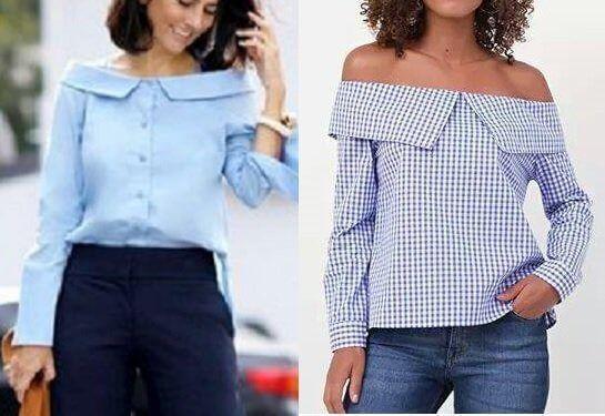 3bb50e2810278 Patrón de Camisa manga larga sin hombros - Patrones gratis