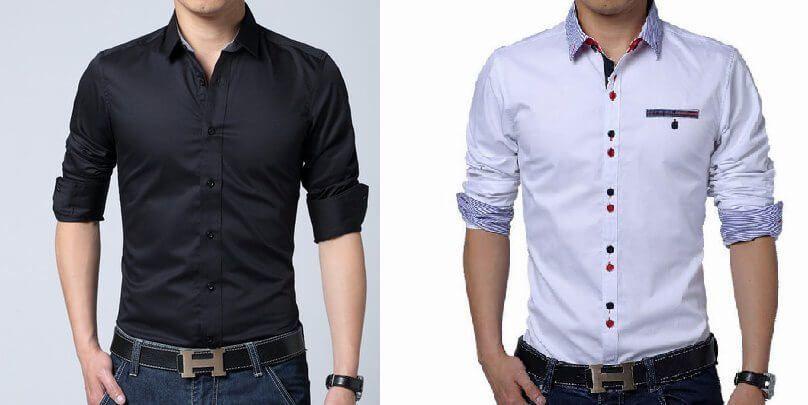 Patrón camisa ajustada para hombre
